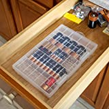 Home-X - Clear Battery Storage Case, Stores and
