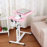 PinShang Foldable Computer Table Portable Rotate Laptop Bed Standing Desk Pink .40x64cm1
