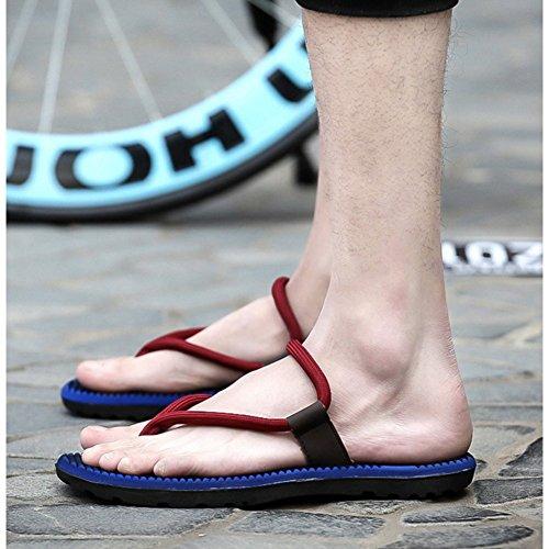 Sandalias Flip-flop De Fangda Casual Beach Wear Para Hombre Azul