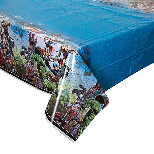 (Unique Avengers Rectangular Plastic Table Cover, 54