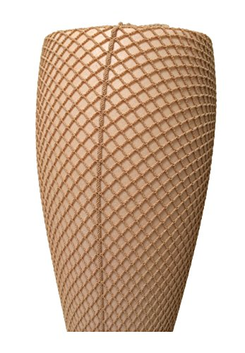 Capezio Professional 3400 Seamed Fishnet Tights. (XL, Caramel) by Capezio