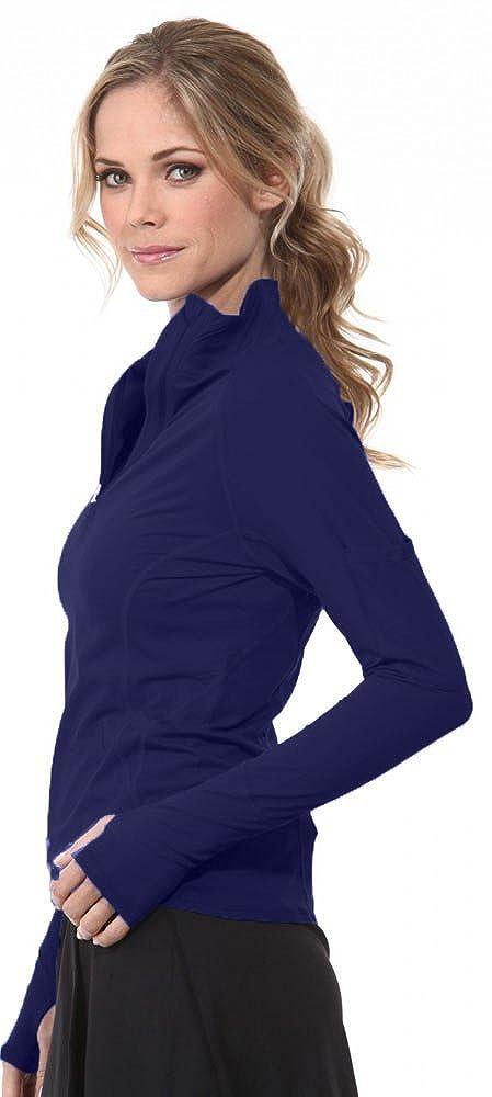 Navy BloqUV Women's Mock Zip Top