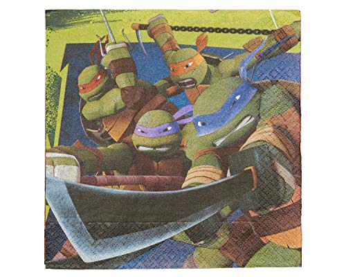 American Greetings, Teenage Mutant Ninja Turtles Lunch Napkins, 16-Count -