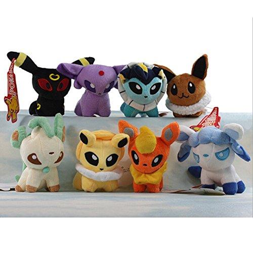 OliaDesign Handmade Plush Soft Toy Poke Doll Stuffed Animal Figure (8 Piece), 5