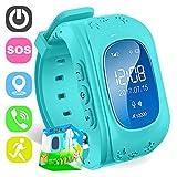 TURNMEON Smart Watch for Kids Children Smartwatch Phone with SIM Calls Anti-lost GPS Tracker SOS Voice Chat Gprs Bracelet Parent Control APP (Blue)