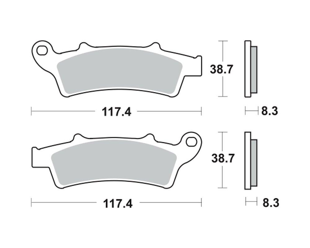 Pastiglie dei freni TRW MCB726SRM per PIAGGIO / Vespa 350 Beverly Sport Touring ie, ABS 12- (anteriore) LUCAS
