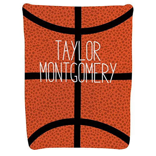 - Personalized Basketball Baby & Infant Blanket | Custom Basketball with Name