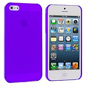 Accessory Planet(TM) Purple Crystal Hard Snap-On Rear Case Cover for Apple iPhone 5 / 5S