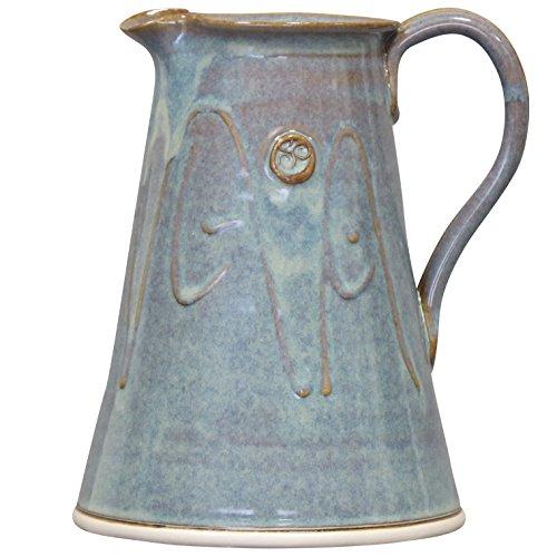 """Glazed Ceramic Pitcher (Handmade Glazed Pitcher by Castle Arch Ireland. 7.5"""" Tall 100% Lead)"""