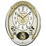 セイコー クロック 掛け時計 ミッキーマウス ミニーマウス 電波 アナログ 5曲メロディ 飾り振り子 ミッキー&フレンズ Disney Time(ディズニータイム) 白パール FW567W SEIKO