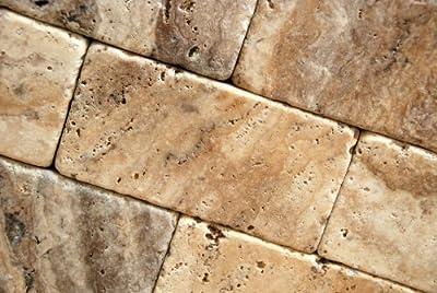 Philadelphia 3 X 6 Travertine Tumbled Brick Tile