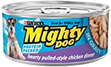 Purina Mighty Dog Wet Dog Food, Hearty Pulled-Style Chicken Dinner In Gravy, 5.5-Ounce Can, Pack of 24 offers