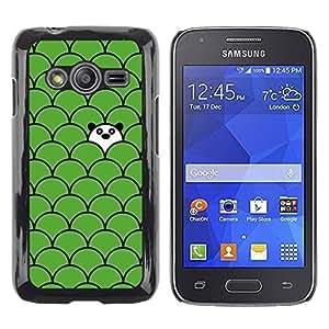 TopCaseStore / la caja del caucho duro de la cubierta de protección de la piel - Panda Cute Green Sweet - Samsung Galaxy Ace 4 G313 SM-G313F