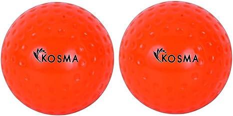 Kosma Set of 2 pc Dimple Hockey Balls Outdoor Sports PVC Practice Training Ball