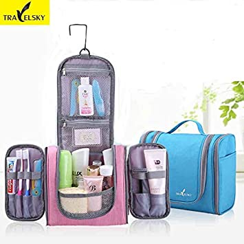 bddf5af0c54d Amazon.com   Best Choise Product 2018 newest family travel organizer makeup  bag women waterproof washing toiletry handbags men hanging cosmetic bags    ...