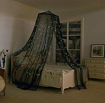 Loonju Glowing Moskitonetz Dome Betthimmel Mit Sternen Fur Kinder