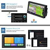 """Android Car Stereo Double Din GPS Navigation Stereo 1G 16G Car Radio with Bluetooth 7"""" HD Touch Screen Car MP5 Player Support FM Radio Receiver/WiFi/USB Input/SWC/Mirror Link +12 LED Rear View Camera"""