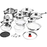 6qt double boiler - 28PC SS COOKWARE SET With Ebook