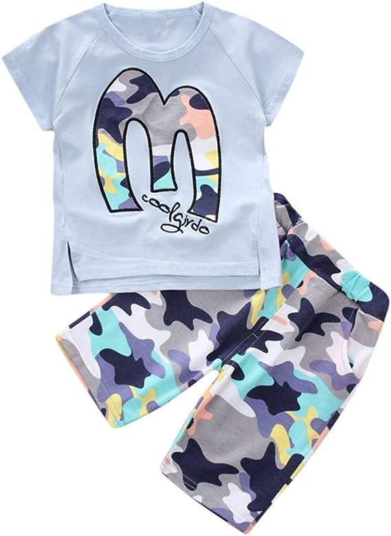 Camouflage Shorts Pantalons Oyedens Shorts Et Haut Ensemble Bebe Garcon Naissance Mode Infantile Enfant Vetement B/éb/é Gar/çon Ete Pas Cher Outfit Sport Chemise Sweat T-Shirt Tops