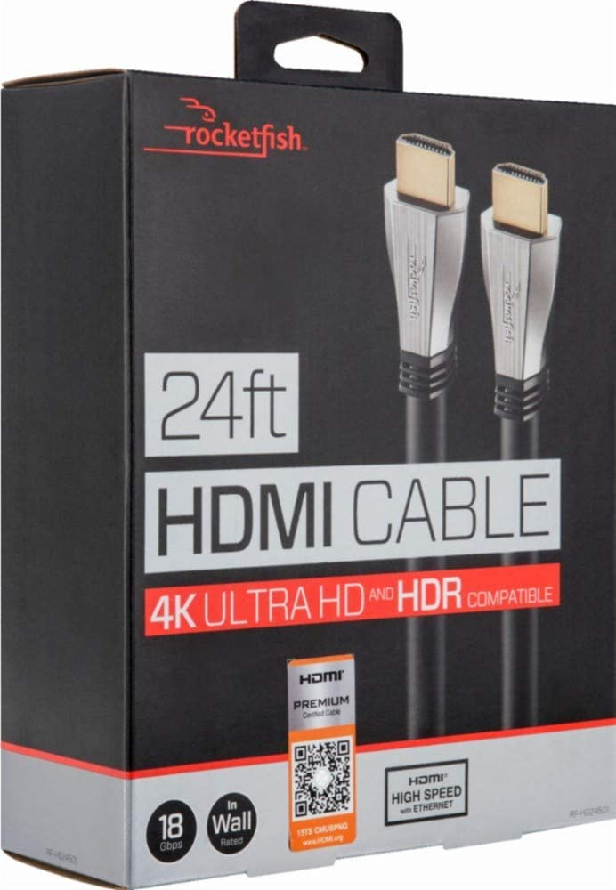Rocketfish - 24' In-Wall HDMI Cable