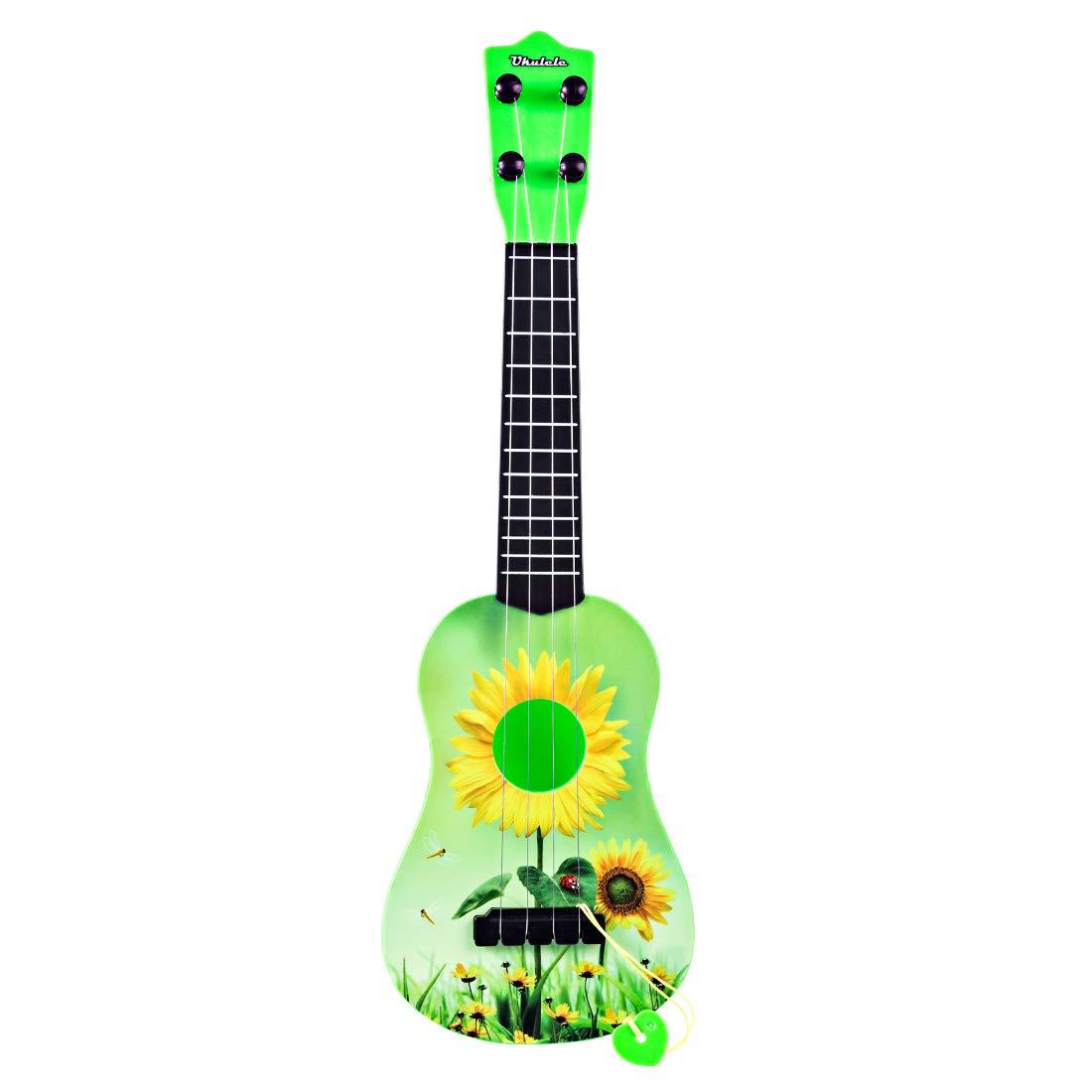 Giplar 4 Saiten Kindergitarre Kinder Gitarre Pädagogisches Spielzeug , Ukulele Spielzeug Gitarre Baby geeignet für Kinder ab 3 Jahre