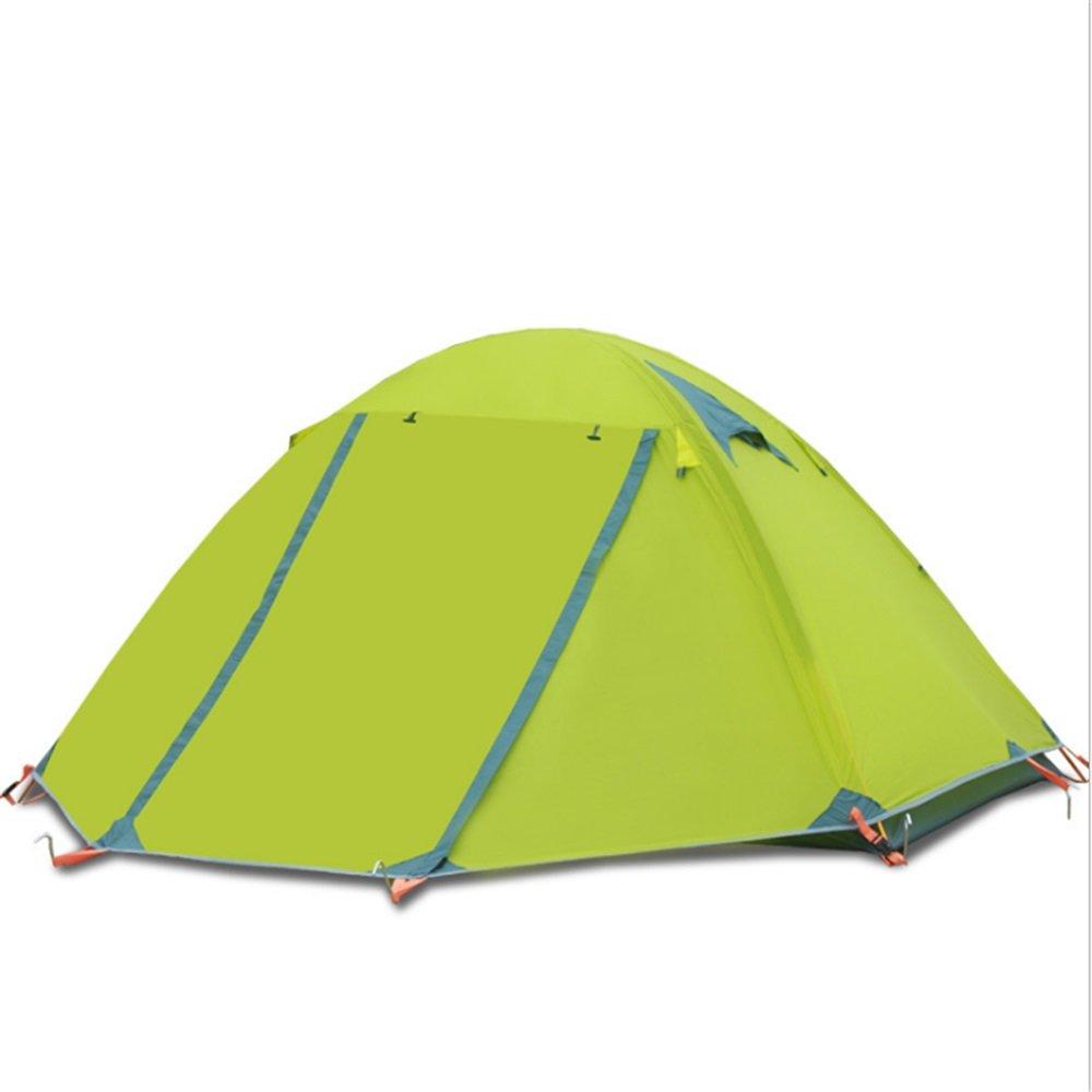 Maybesky Festzelt Outdoor Camping Zelt Outdoor Doppel 3-4 Personen Double Rod Deck Aluminium Rod Double Feld Wind Beweis Regensturm Proof Und Wasserdichtes Zelt 100% Wasserdichtes Familien-Campingzelt 9fcb92
