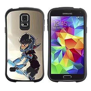 "Pulsar iFace Series Tpu silicona Carcasa Funda Case para Samsung Galaxy S5 , Niño Traje espacial Nave Universo Cosmos Arte"""