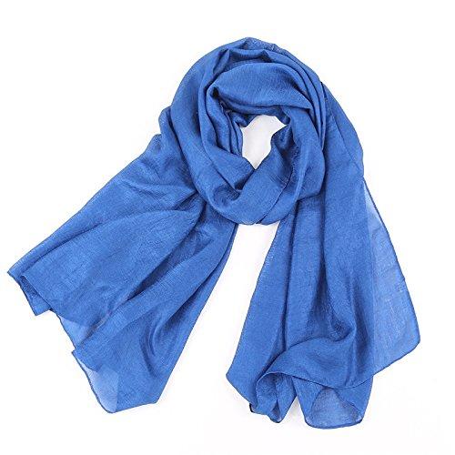 foulard Bleu Pure châle Lin Soleil Femme Anti Echarpe Couleur Acvip Rqfwt0