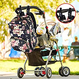 Baby Bag Backpack, Multifunction Travel Diaper Bag Backpack Maternity Baby Changing Bag for Baby Girls and Boys with USB Charging Port and Stroller Straps, Waterproof and Stylish, Gray