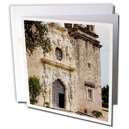 3dRose Danita Delimont - Churches - Church at Mission San Jose National Historic Park - 12 Greeting Cards with envelopes (gc_260120_2)
