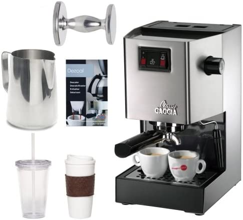 Gaggia 14101 Classic Espresso Machine (Brushed Stainless Steel)