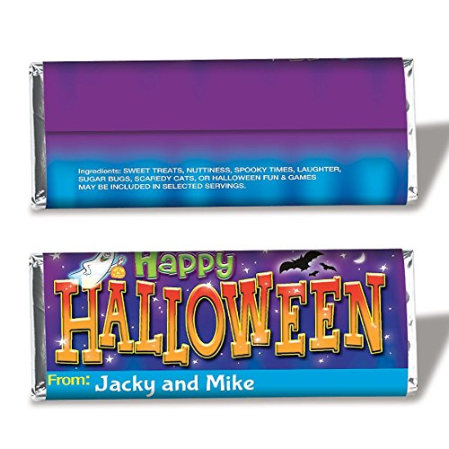 Current Personalized Halloween Candy Bar Wrappers -Set of 24