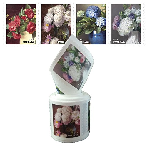 Floral Postage (Flowers from the Garden 1 coil of 100 USPS First Class Postage Stamps Celebrate Beauty Wedding)