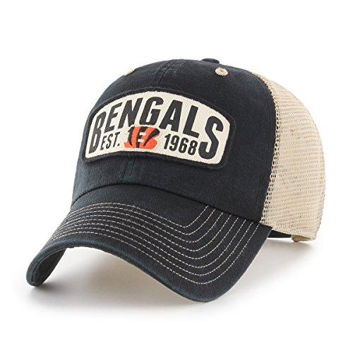 NFL Cincinnati Bengals Woodford OTS Challenger Adjustable Hat, Black, One ()
