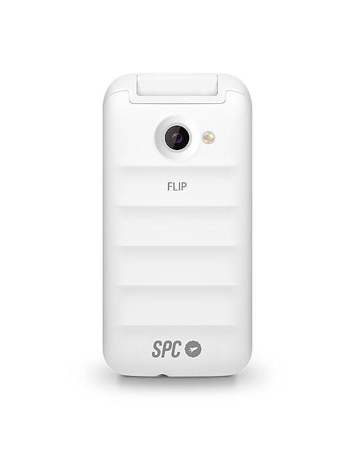 SPC Flip- Teléfono móvil (Dual SIM, Números y Letras Grandes, Agenda hasta 300 contactos, Bluetooth), Blanco: Spc: Amazon.es: Electrónica