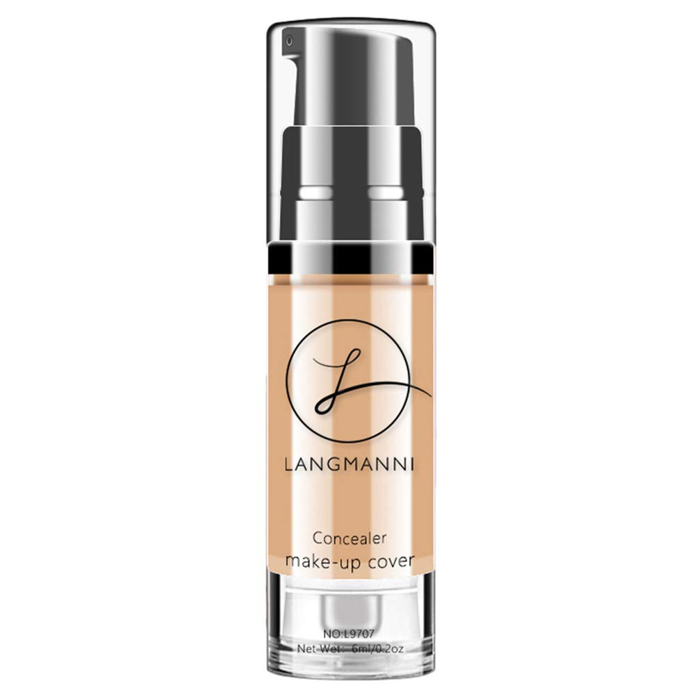 Makeup Liquid Concealer Foundation Moisturizing Waterproof Concealer BB Cream B by ABASSKY (Image #2)