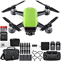 DJI Spark Portable Mini Drone Quadcopter Fly More Combo Travel Bundle (Meadow Green)