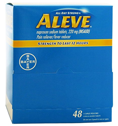 Aleve Individual Sealed 1 Caplet in a Packet (Box of 48 Packets) - Caplets Box