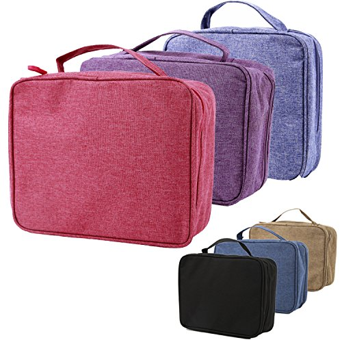 purifyou Classic Insulated Lunch Box - Compact, Easy Wash, Smooth Zipper & Lightweight - Tote Bag & Container, Lunch Bag for Men, Women, Kids, Boys, Girls, Adults (Ladies or Girls, 3 Pack)