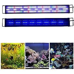 """KZKR Upgraded Aquarium LED Light Full Spectrum 36""""-48"""" Hood Lamp for Freshwater Marine Plant Multi-Color Decorations Light 90cm - 120cm"""