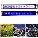 KZKR Upgraded Aquarium LED Light Full Spectrum 36'-48' Hood Lamp for Freshwater Marine Plant Multi-Color Decorations Light 90cm - 120cm