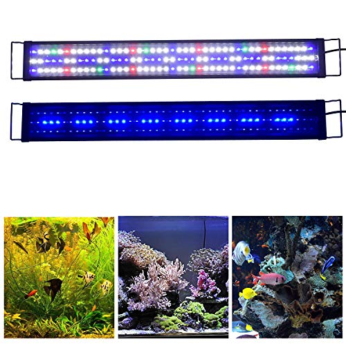 Fluorescent Full Hood (KZKR Upgraded Aquarium LED Light Full Spectrum 36