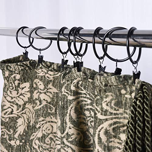 Frifer Shower Curtain RingsShower Hooks1 Stainless Steel Rod ClipsHeavy Duty Bath