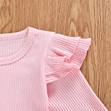 Toddler Baby Girls Ribbed Knit Cotton Skirt Set