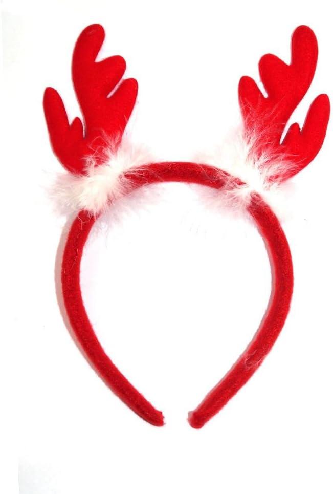 Fluffy Christmas renna Antler cerchietto per capelli fascia adulti e bambini