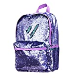 Fashion Lightweight Travel Glitter Mermaid School Bag Magic Reversible Sequin Backpack for Girls (PURPLE) Review
