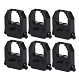 myCartridge 6 Pack Compatible Time Clock Ink Ribbon Replacement for Amano PIX3000 PIX-3000Black