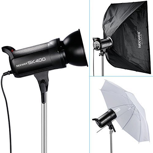 Neewer® 400W 5600K Bowens Mount Photo Studio Strobe Flash Light Monolight with Lamp Head for Studio,Location and Portrait Photography (SK400)