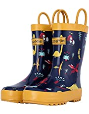 CasaMiel Kids Rain Boots for Toddlers Unisex Rain Boots for Boys&Girls, Handmade Natural Rubber Boots for Children