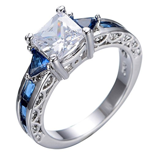 B-Star-White-Gold-Filled-Rings-With-Blue-Sapphire-White-Zircon-Size-6-10